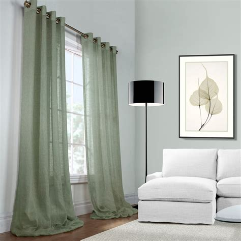 sheer linen drapery panels ideas for sheer linen curtains creative home decoration