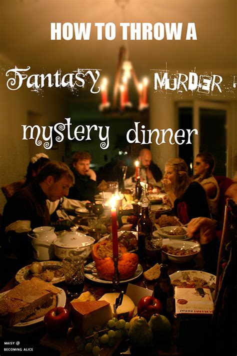 how to throw a mystery dinner becoming