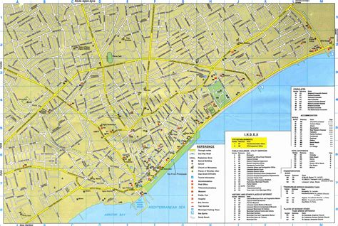 a map of limassol map map of limassol area large detailed