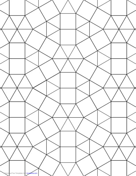3d Abstract Pattern Pouch Graph tessellation graph paper 3 3 3 3 3 3 3 3 4 3 4 free