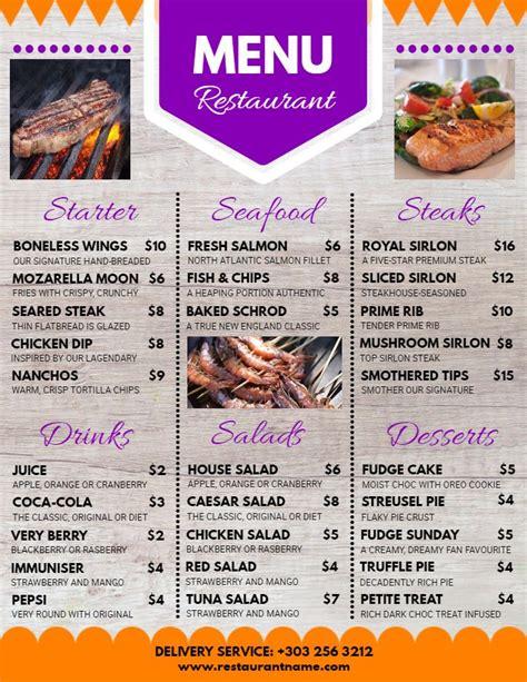 menu design maker 57 best restaurant poster templates images on pinterest