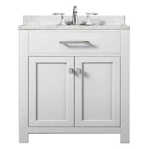 water creation madison 30 in vanity in modern white with