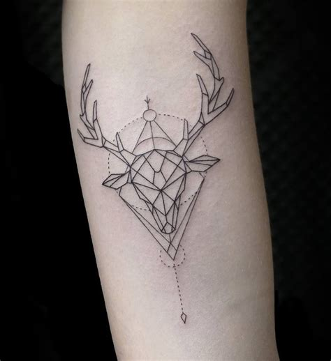 minimalist tattoo deer 42 emrah ozhan tattoos that are out of this world page 4