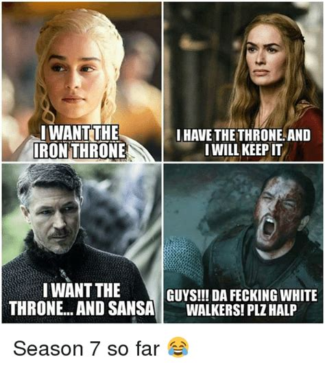White Walkers Meme - iwant the iron throne ihave the throneand iwill keep it