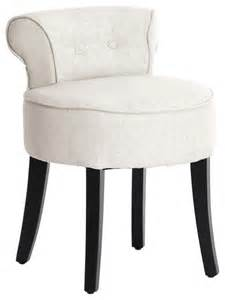 millani vanity stool light beige contemporary