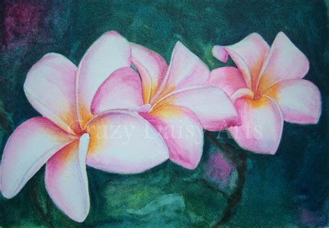 plumeria painting crazy daisy arts finished plumeria watercolor