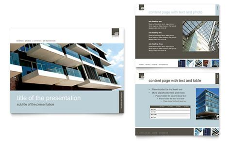 Commercial Real Estate Presentations Templates Designs Commercial Real Estate Presentation Template