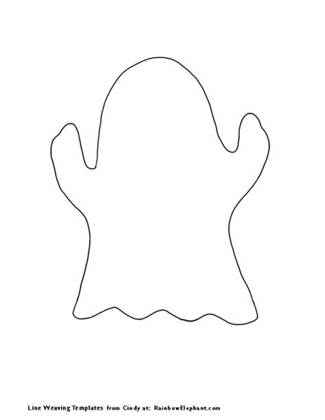 best photos of ghost outline to cut out ghost template
