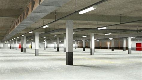 underground parking garage underground parking garage 02 3d cgtrader