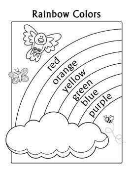 the colors of the rainbow in spanish 187 learning spanish colors practice rainbow coloring page english color