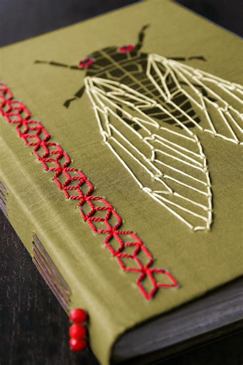 Handmade Sketchbooks - nessy designs handmade cicada sketchbook