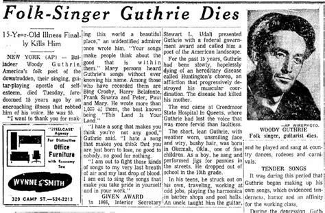 remembering james dean woody guthrie janis joplin  newspapers