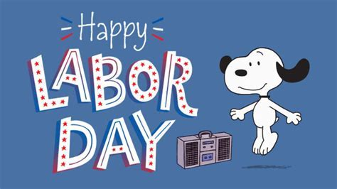 Snoopy Labor Day eCard   Hallmark eCards
