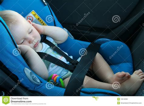 infant sleeping in car seat safe baby sleeping in car seat stock photo image 10518390