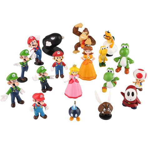 Bros Mini 18pcs mario character bros mini figure set doll display gift us105