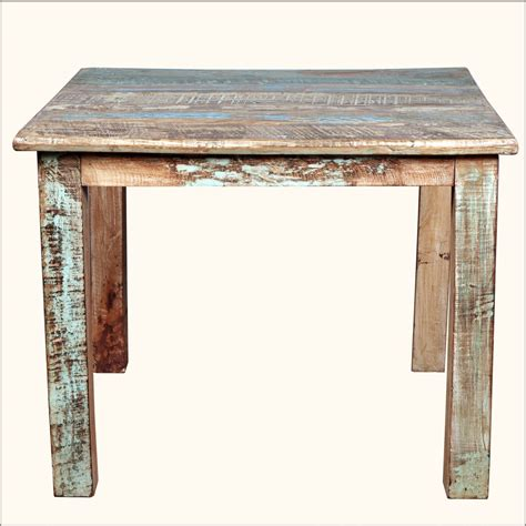 small square kitchen table rustic reclaimed wood distressed 40 quot square kitchen dining