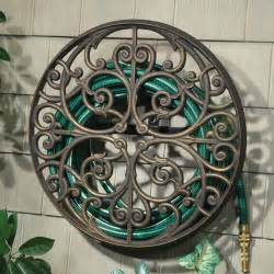 orleans wall mounted hose holder eclectic outdoor