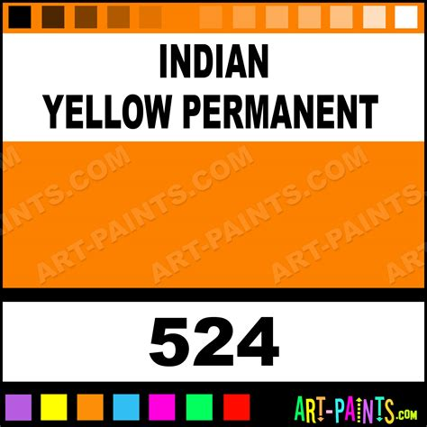 indian yellow permanent artist paints 524 indian yellow permanent paint indian yellow