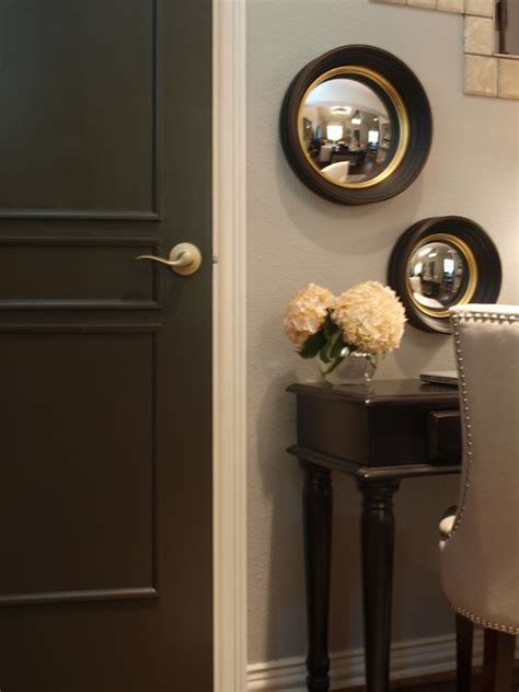 gorgeous black door painted benjamin dragons breath west elm convex mirrors black desk