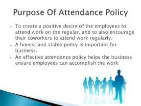 absenteeism policy template employee attendance policy