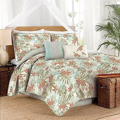 caribbean joe hibiscus comforter set bed bath beyond