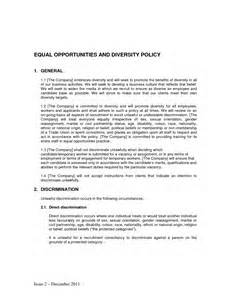 diversity policy template