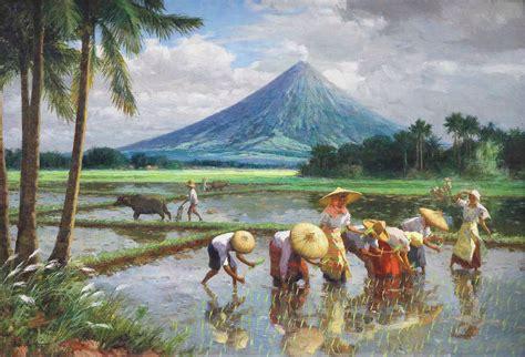 Landscape Definition Tagalog Amorsolo Planting Rice Mayon Fernando Amorsolo 1892