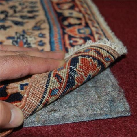 rug on carpet pad 6 x9 no muv non slip rug on carpet pad includes rug and
