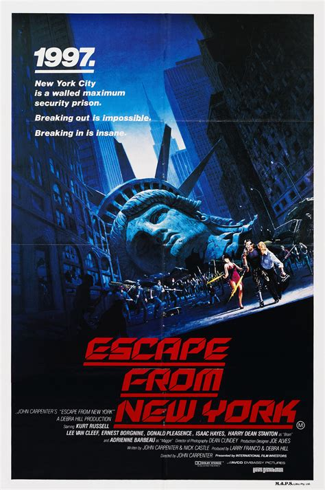 Poster Escape From New York 30x40cm kurt talks shooting escape from new york with