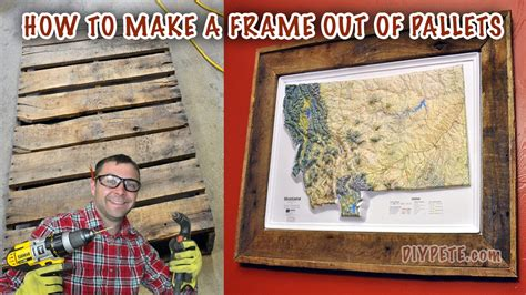 How To Make A Picture Frame Out Of Paper - how to make a frame out of a pallet frame a map or