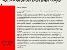 procurement officer cover letter