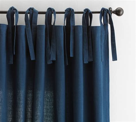 Drape Ties textured cotton tie top drape pottery barn