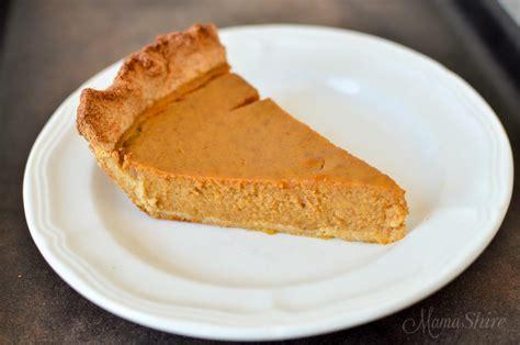 pumpkin pie gluten dairy and sugar free
