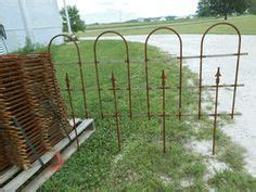 detalhes sobre wrought iron large hoop  spear fence