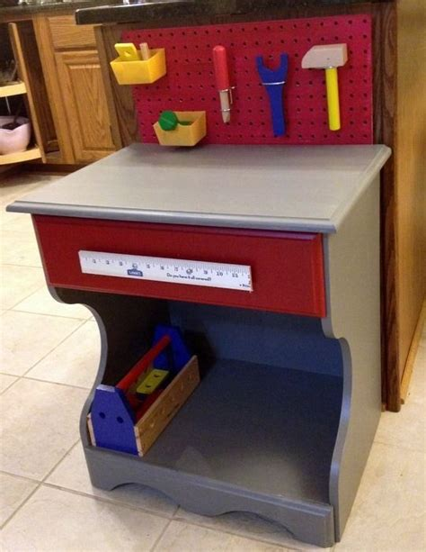 child tool bench upcycled night stand upcycled child s tool bench from an