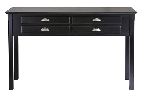Hallway Table With Drawers Timber Console Table Drawers Ojcommerce