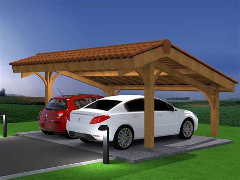 Abri De Voiture En Bois by D 233 Mo Montage Abri Voiture Bois Carport 2 Places En Kit