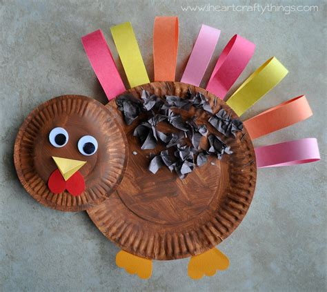 How To Make A Paper Plate Turkey Craft - paper plate turkey craft i crafty things