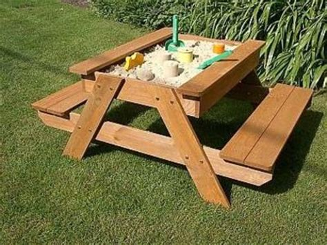 sand and picnic table but would also be cool garden table