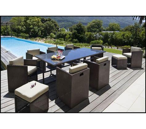 Ensemble Table Et Chaise De Jardin Carrefour by Ensemble Table Et 8 Fauteuils De Jardin Set Riverside