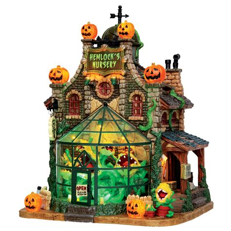 lemax halloween houses lemax spooky town collection hemlock s nursery seasonal halloween halloween decor