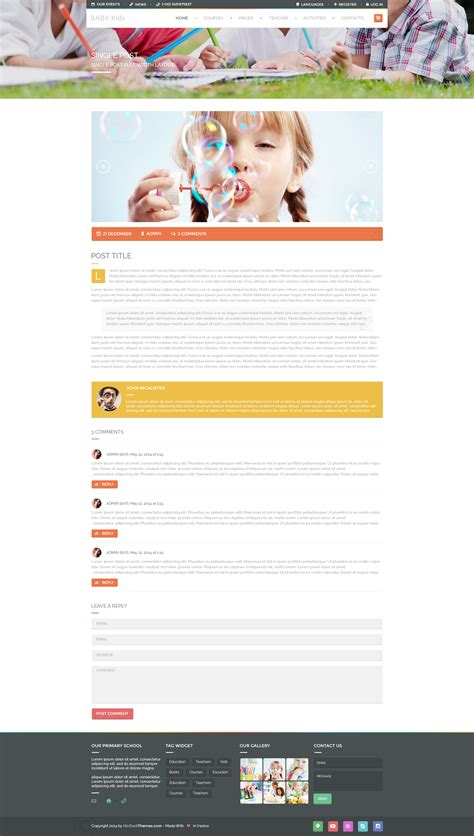 themeforest free html templates full themeforest baby site template rip