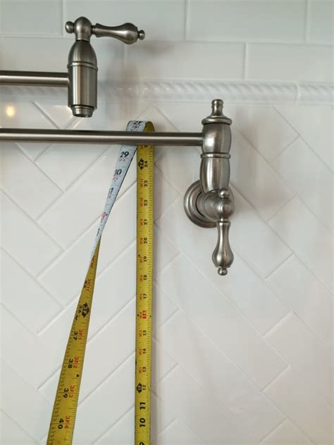How To Install A Pot Filler Faucet by Builder Installed Pot Filler Way High What Should I Do