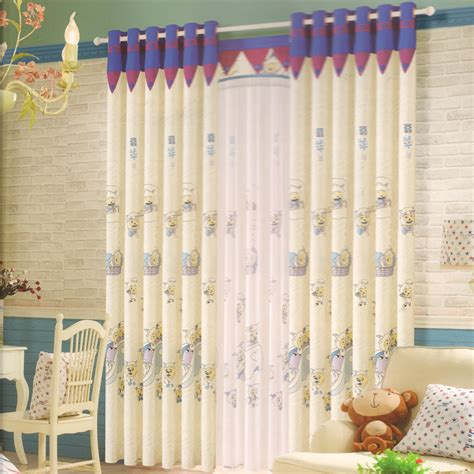 Design Animal Curtains For Nursery Cotton Fabric Fabric For Nursery Curtains