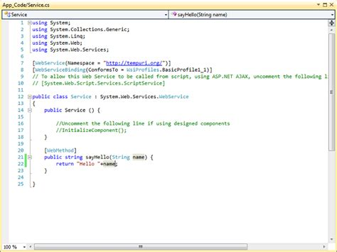 tutorial on web services in c how to create webservice in asp net using csharp