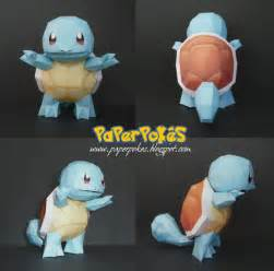 How To Make An Origami Squirtle - paperpok 233 s pok 233 mon papercraft squirtle