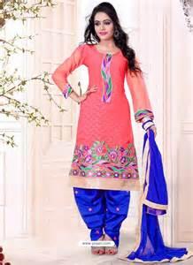 pink and blue cotton punjabi suits punjabi suit online