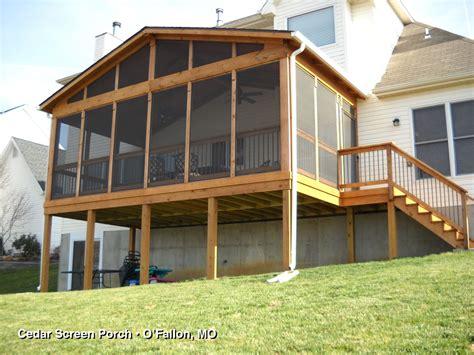 Cedar Screen Porch porches sunrooms