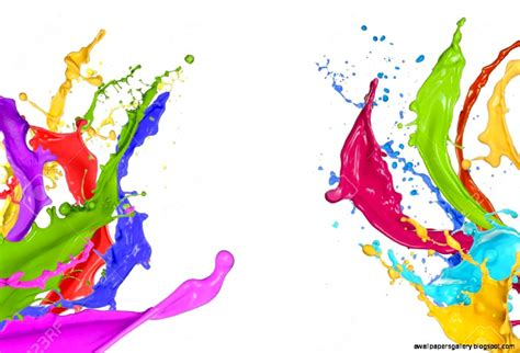 paint images colorful paint splatter on white background wallpapers