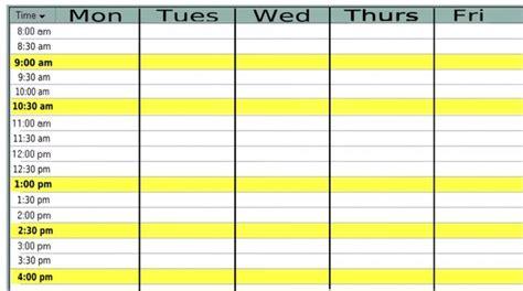 free daily calendar template with times monfilmvideo com